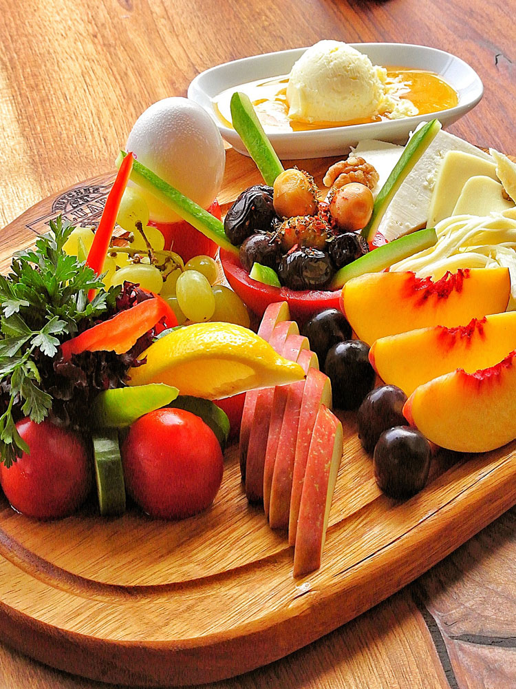 catering - board with fruits