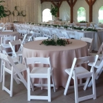 tables set inside southlawn tent