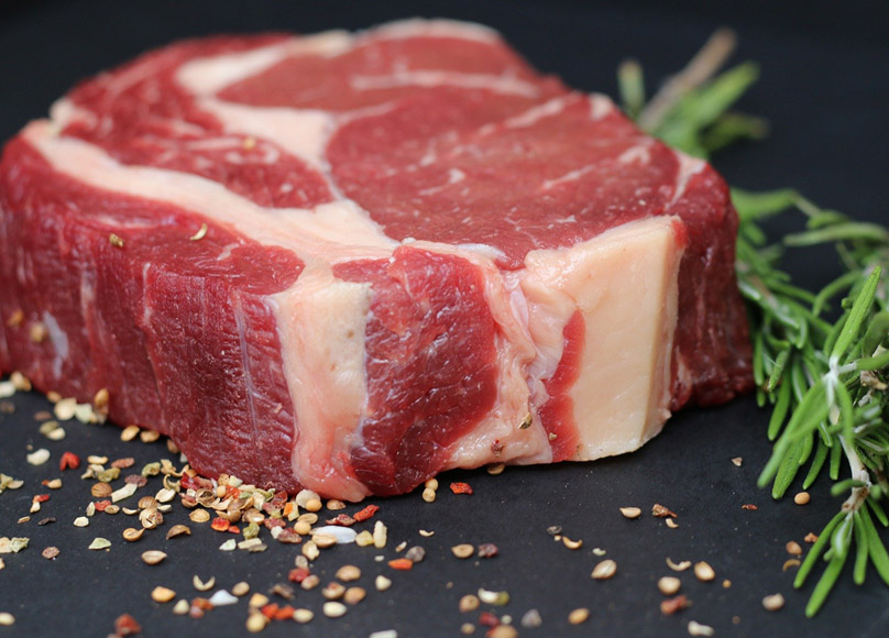 close up of beef steak