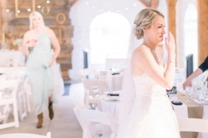 bride crying at the sight of her grandfather