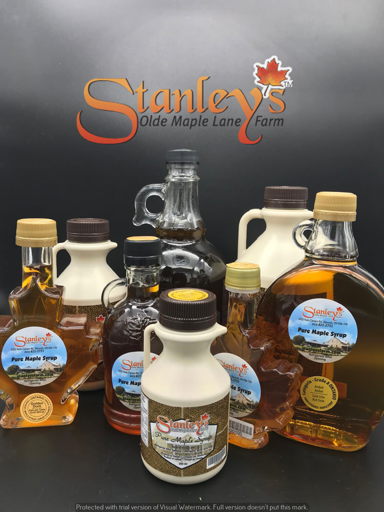 stanley's maple syrup products