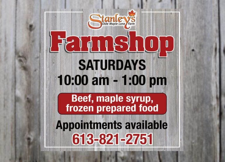 Stanley's Farmshop sign