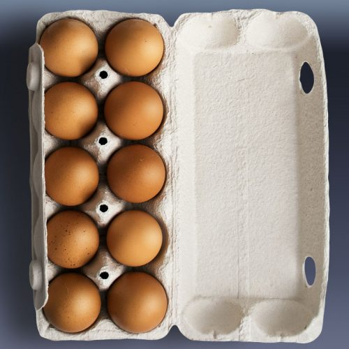 Farm Fresh Eggs in carton