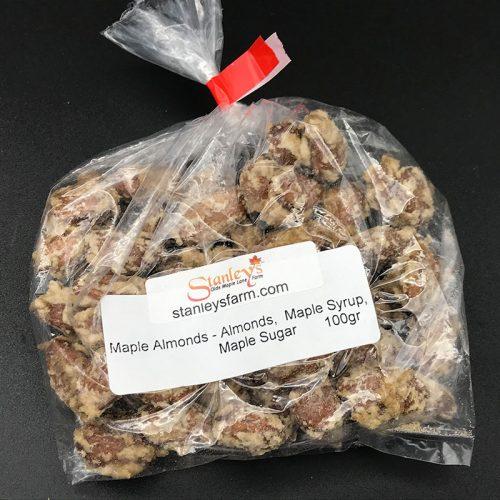 maple almonds 100g bag
