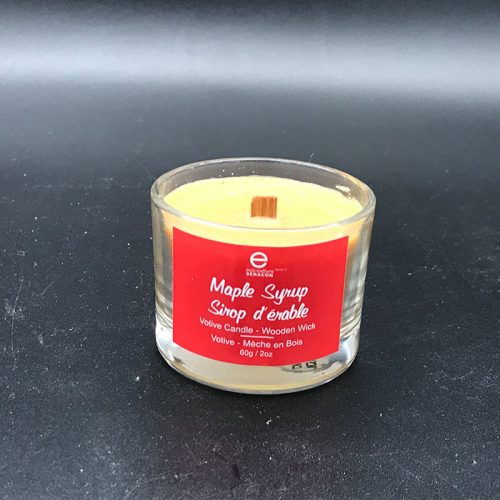 Small Maple Scented Candle - Wooden Wick